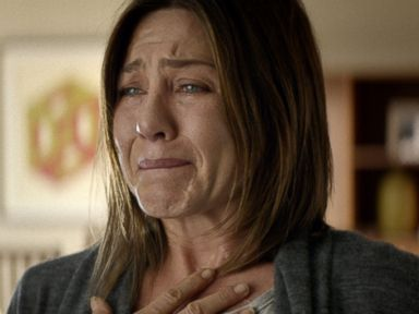 PHOTO: Jennifer Aniston in a scene from Cake. Aniston was nominated for a Golden Globe for best actress in a drama for her role in the film, Dec. 11, 2014.