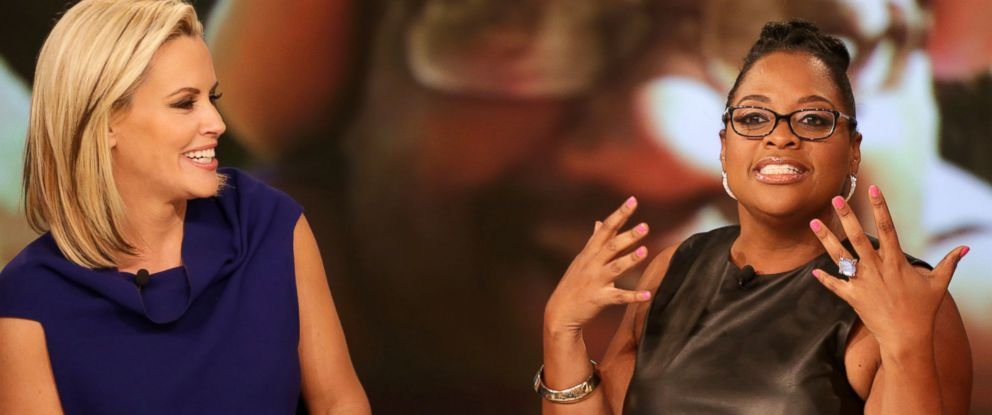 """PHOTO: ABC shows co-host Jenny McCarthy, left, and Sherri Shepherd on the daytime series, """"The View,"""" in New York, June 10, 2014."""