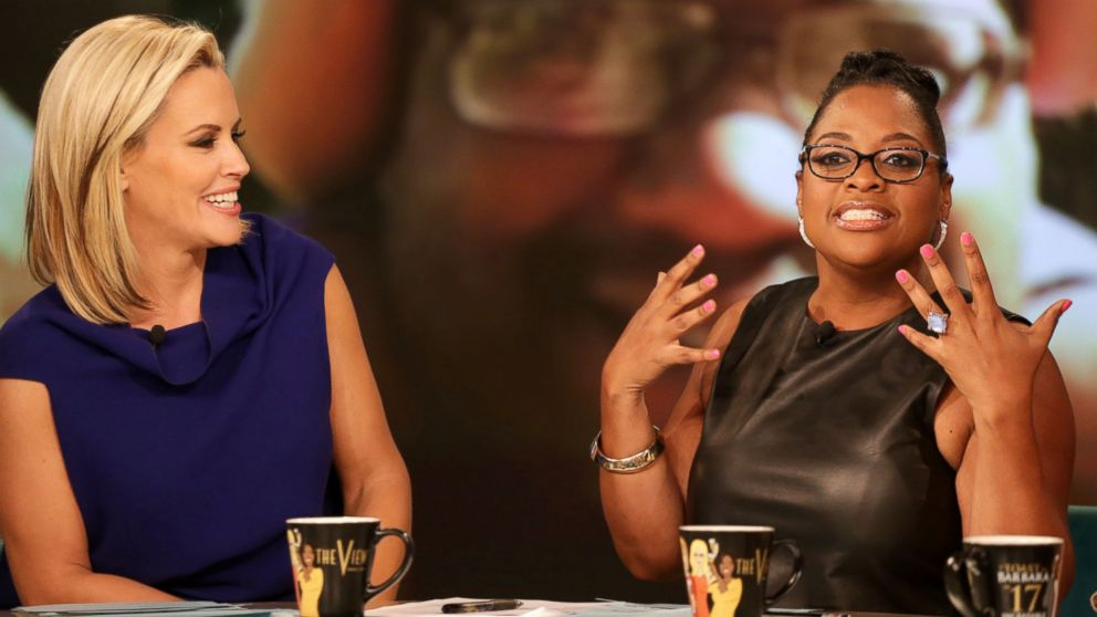 "PHOTO: ABC shows co-host Jenny McCarthy, left, and Sherri Shepherd on the daytime series, ""The View,"" in New York, June 10, 2014."