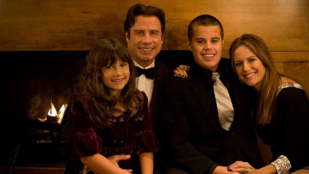 PHOTO: In this image released by Rogers & Cowan public relations, actor John Travolta, second left, poses with his daughter Ella Bleu, left, wife Kelly Preston, right, and son Jett in an undated family photo.