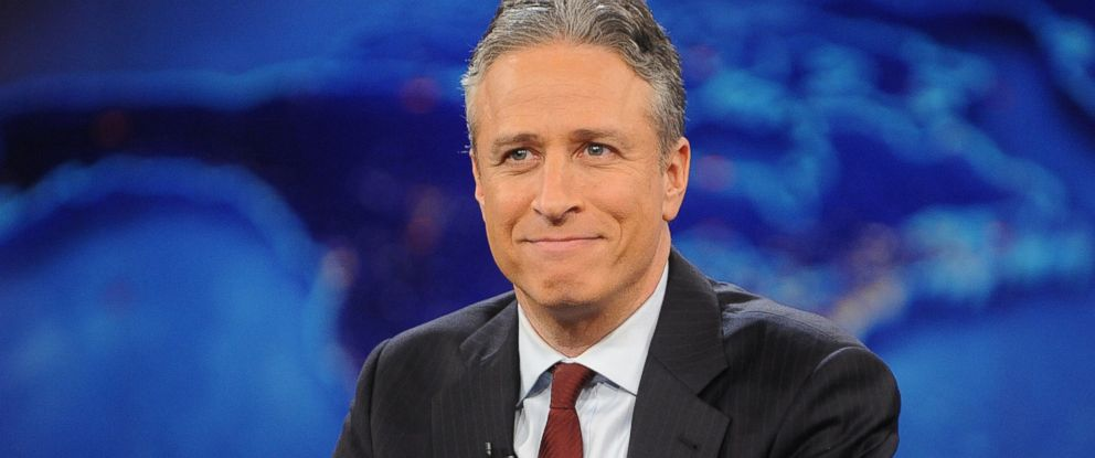 "PHOTO: Jon Stewart during a taping of ""The Daily Show with Jon Stewart"" in New York, Nov. 30, 2011."