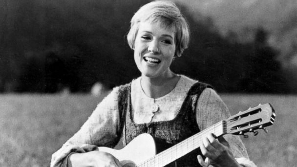 "PHOTO: Julie Andrews bringing music to the hills of Austria in this scene from ""The Sound of Music."""