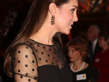 Kate Middleton Reveals Her Growing Baby Bump!