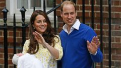 PHOTO: Britains Prince William and Kate, Duchess of Cambridge and their newborn baby princess, pose for the media as they leave St. Marys Hospitals exclusive Lindo Wing, London, Saturday, May 2, 2015.