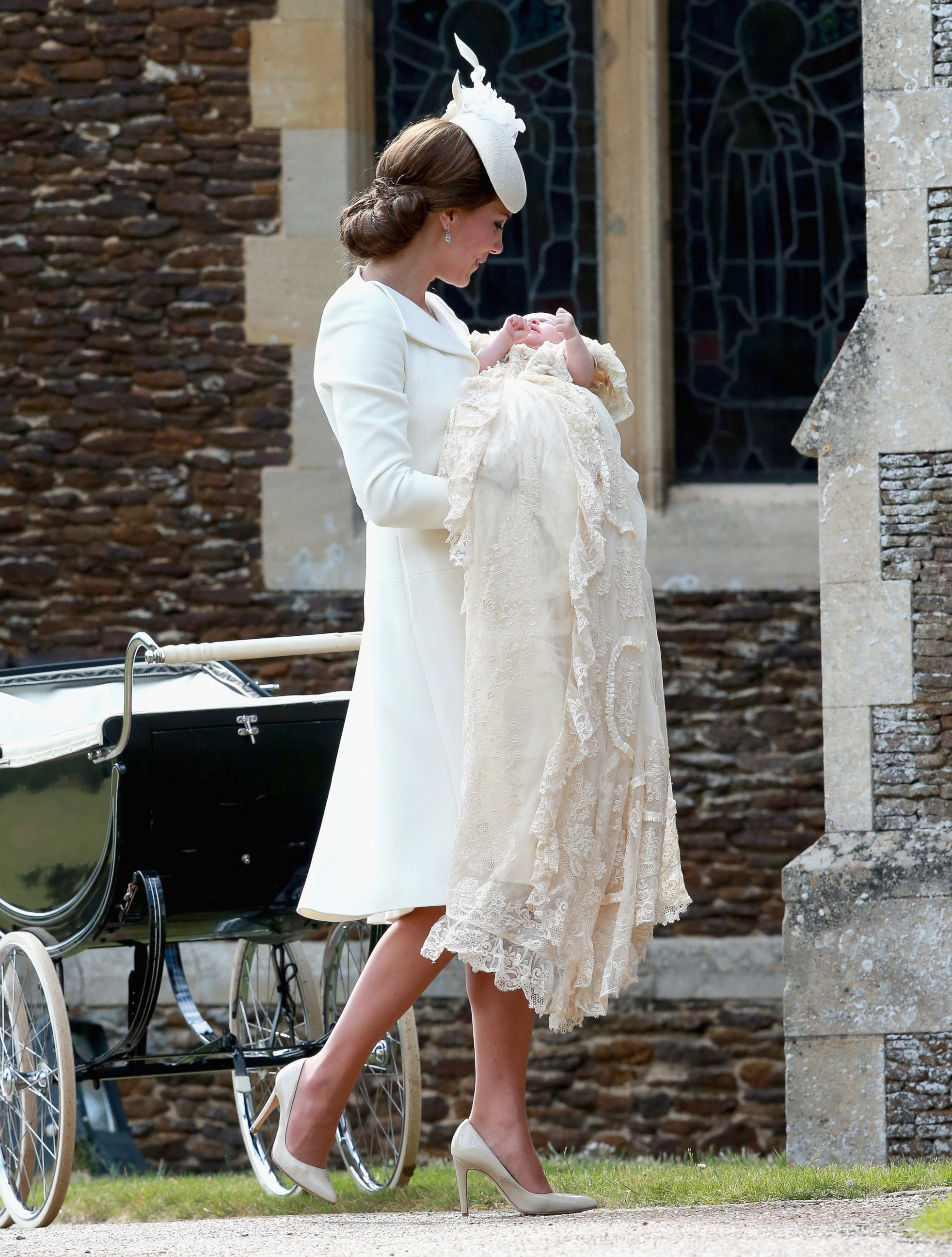 Duchess Kate Takes Princess Charlotte to Her Christening