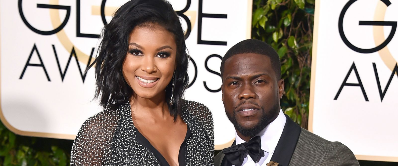 The elegant model Eniko Parrish with her husband Kevin Hart the highest paid comedian in the world