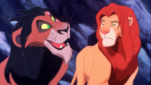 PHOTO: Simba the lion  confronts his uncle Scar in this image from the