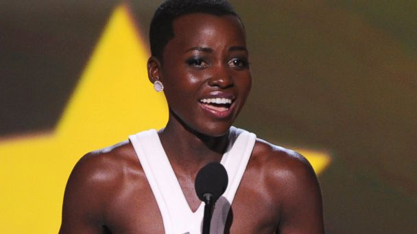 "PHOTO: Lupita Nyongo accepts the award for best supporting actress for ""12 Years a Slave"" at the 19th annual Critics Choice Movie Awards, Jan. 16, 2014, in Santa Monica, Calif."