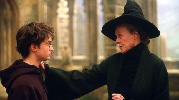 PHOTO: Daniel Radcliffe as Harry Potter and Maggie Smith as Professor Minerva McGonagall in a scene from