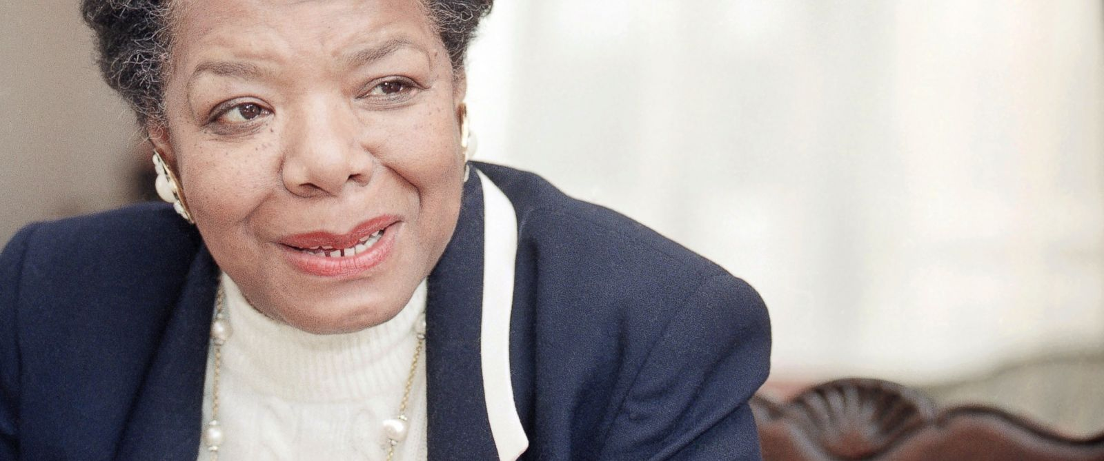 PHOTO: American poet and writer Maya Angelou shown on Dec. 15, 1992 in Washington, D.C.