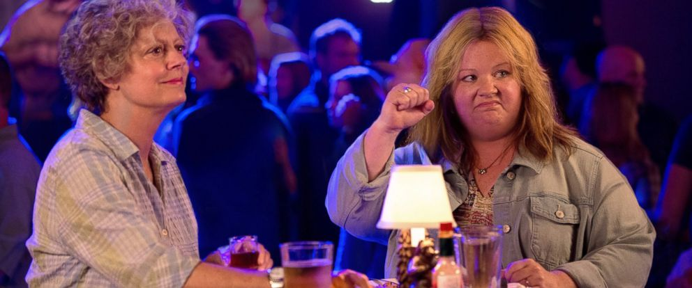 "PHOTO: Susan Sarandon, left, and Melissa McCarthy in a scene from ""Tammy."""