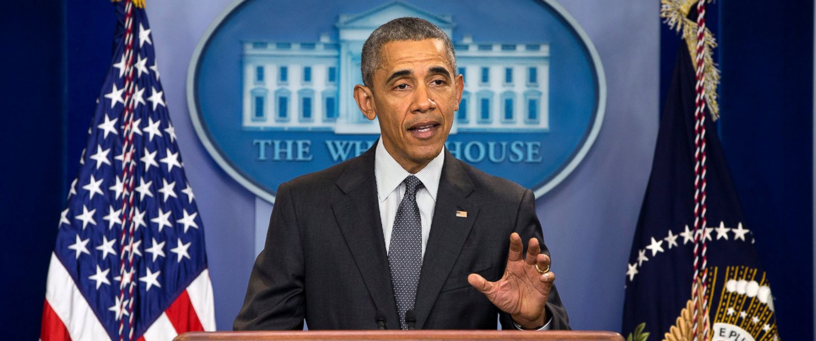 PHOTO: President Barack Obama speaks about new rules aimed at deterring tax inversions, April 5, 2016, in Washington.