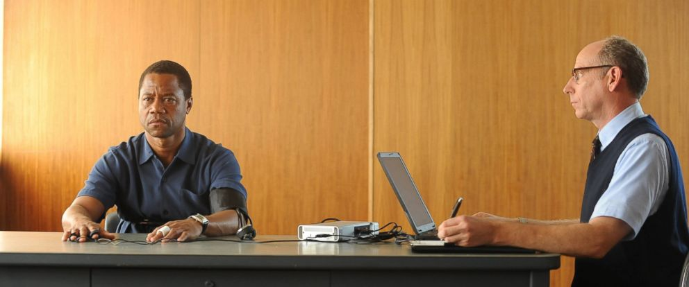 "PHOTO: Cuba Gooding Jr. portrays O.J. Simpson, left, in a scene from ""The People v. O.J. Simpson: American Crime Story,"" a 10-part series that debuted Feb. 2, 2016 on Fox."