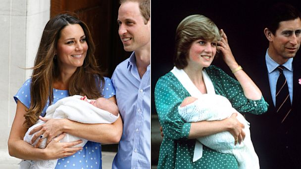 AP royal baby diana nt 130723 16x9 608 Kate Middleton Channels Princess Diana With Polka Dot Dress to Present Newborn Son