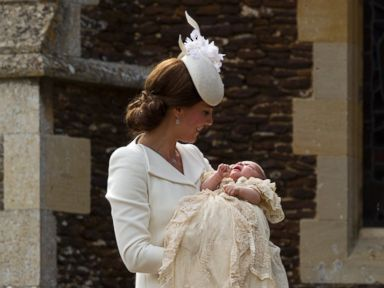 Royals Turn Out as Princess Charlotte Gets Christened