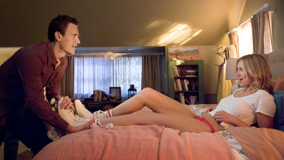 "PHOTO: Cameron Diaz, right, and Jason Segel in a scene from ""Sex Tape."""