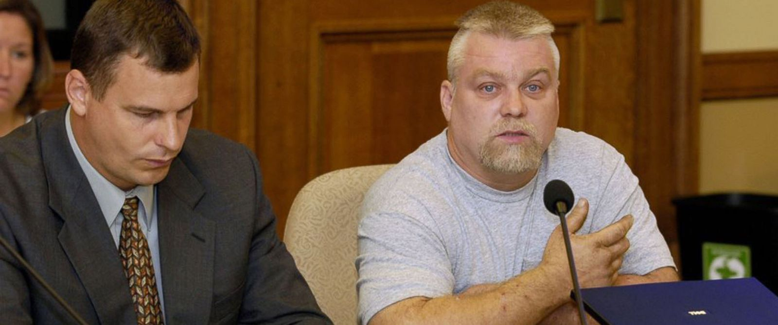 "PHOTO: This image released by Netflix shows Steven Avery, right, in the Netflix original documentary series ""Making A Murderer."""