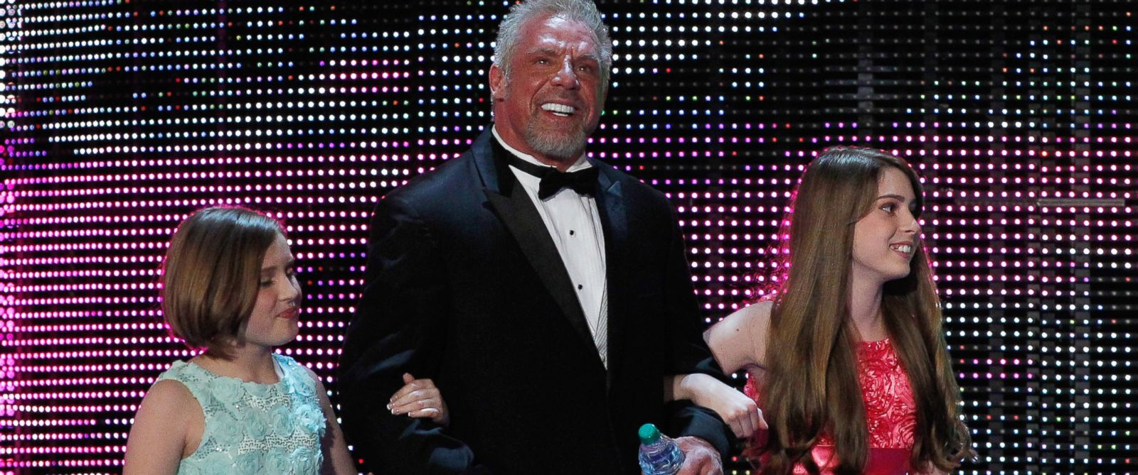 PHOTO: James Hellwig, aka The Ultimate Warrior, and his daughters