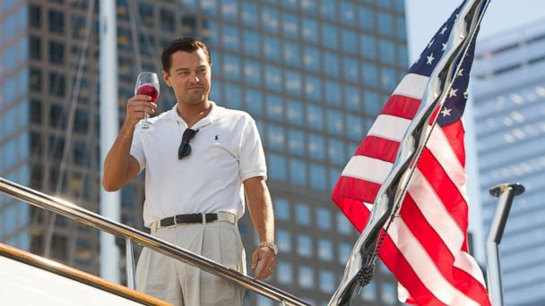 "PHOTO: In this file photo, Leonardo DiCaprio as Jordan Belfort is pictured in a scene from ""The Wolf of Wall Street."""