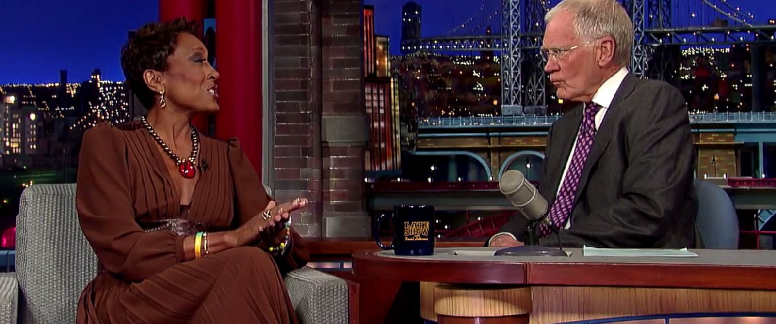 "PHOTO: Robin Roberts appears on ""Late Show with David Letterman,"" April 22, 2014."