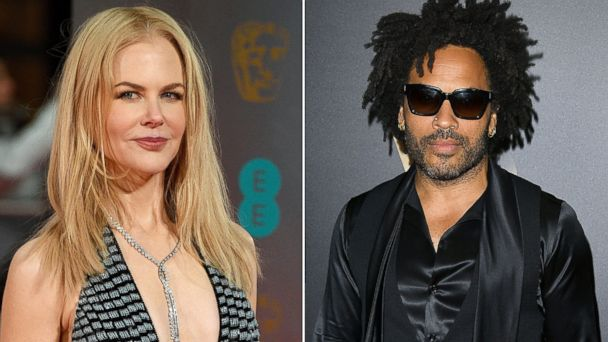 PHOTO: Nicole Kidman, left, arrives for the 70th annual British Academy Film Awards at the Royal Albert Hall in London, Feb. 12, 2017 and Lenny Kravitz arrives at the 20th Annual Hollywood Film Awards, Nov. 6, 2016 in Los Angeles.