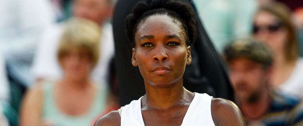 PHOTO: Venus Williams during the Wimbledon Championships at the All England Lawn Tennis Club, in London, July 5, 2017.