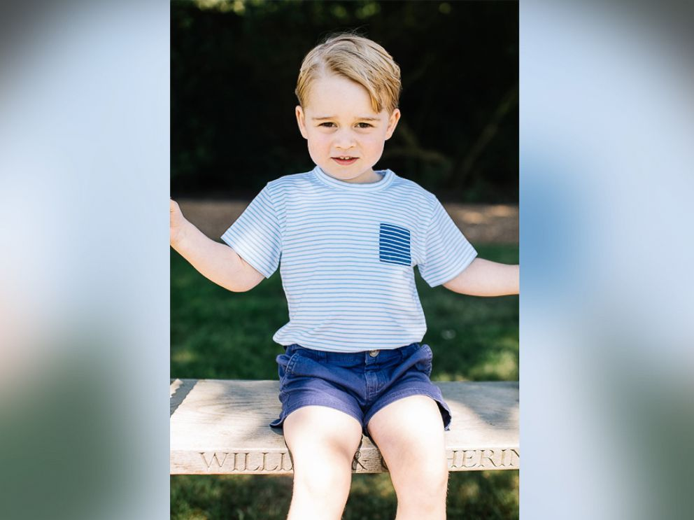 PHOTO: Britains Prince George is seen in this photograph taken at his home in Norfolk in mid-July, and released by the Duke and Duchess of Cambridge to mark his third birthday, July 22, 2016.