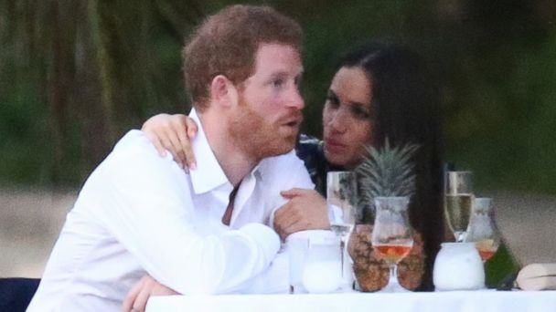 PHOTO: Royal couple Prince Harry and his girlfriend Meghan Markle were spotted attending a friend's wedding in Jamaica, March 3, 2017.