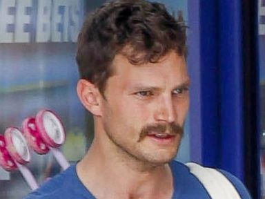 Jamie Dornan Sports a New Mustache