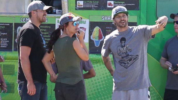 PHOTO: Britney Spears, her boyfriend David Lucado and her ex-husband Kevin Federline