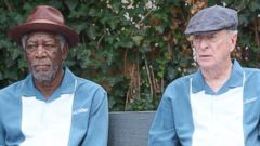 Morgan Freeman and Michael Caine Get to Work on a Movie