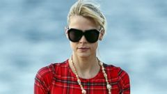 Jaime King Vacations in a Long-Sleeve Swimsuit