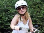Pregnant Kristen Bell Goes Bike Riding
