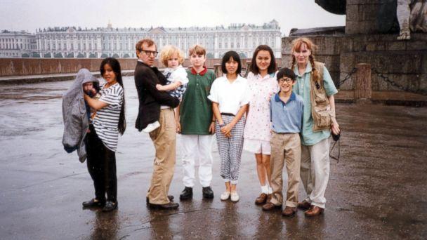 GLB allen farrow family jtm 140206 16x9 608 Family Takes Sides in Woody Allen, Dylan Farrow Saga