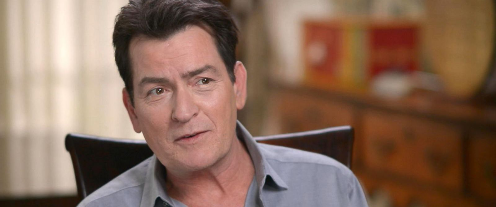"PHOTO: Charlie Sheen discussed his return to movie making with ""Mad Families,"" his life today and his health in an interview with ABC News Michael Strahan for ""Good Morning America."""