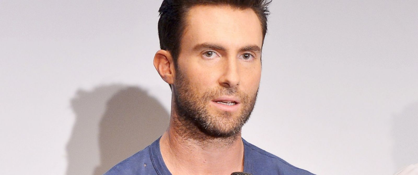 PHOTO: Adam Levine attends the Begin Again press conference at Crosby Street Hotel, June 26, 2014, in New York City.