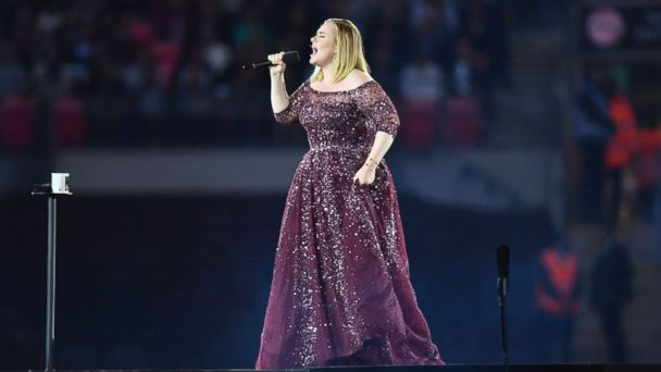 PHOTO: Adele performs at Wembley Stadium, on June 28, 2017, in London.