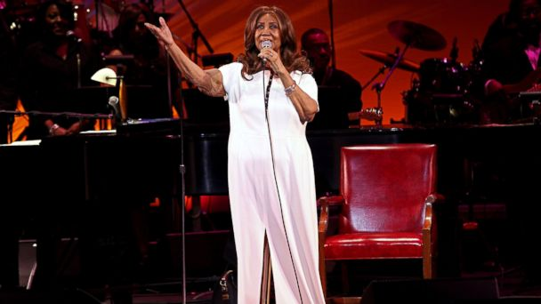 PHOTO: Aretha Franklin performs at the 2017 Bardavon Gala: An Evening With Aretha Franklin at the 1869 Bardavon Opera House, on March 12, 2017, in Poughkeepsie, New York.