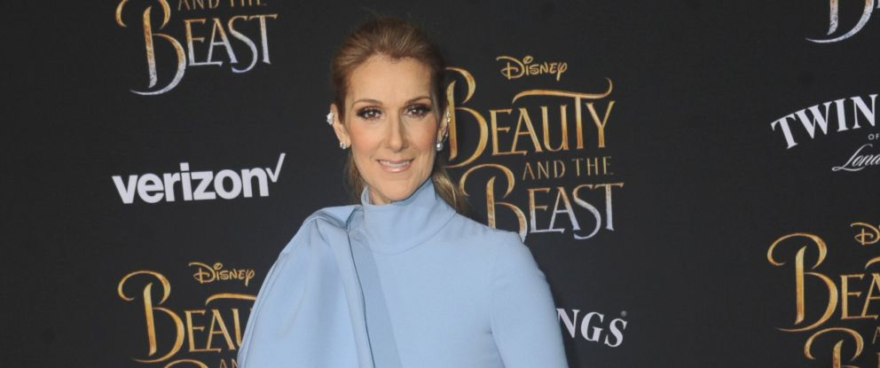 "PHOTO: Singer Celine Dion arrives for the Premiere Of Disneys ""Beauty And The Beast"" held at El Capitan Theatre, on March 2, 2017, in Los Angeles."