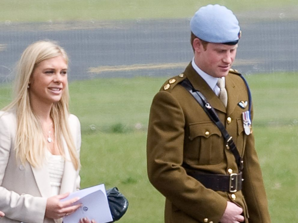 PHOTO: Chelsy Davy and Prince Harry leave after Prince Harry received his flying badges at the Museum of Army Flying, May 7, 2010, in Middle Wallup, England.