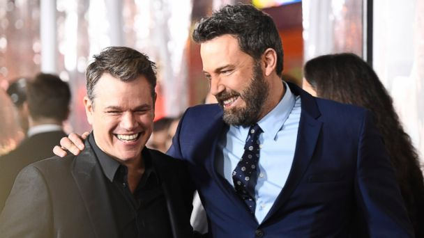PHOTO: Actors Matt Damon and Ben Affleck attend the premiere of Warner Bros. Pictures'