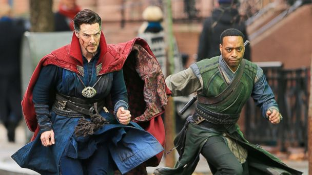 PHOTO: Actors Benedict Cumberbatch and Chiwetel Ejiofor are seen on the set of