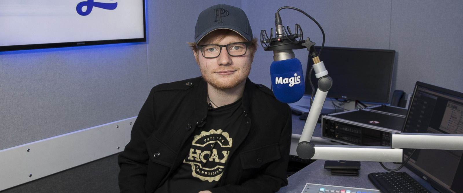 PHOTO: Ed Sheeran during his visit to Magic at Bauer Radio, on Jan. 6, 2017, in London.
