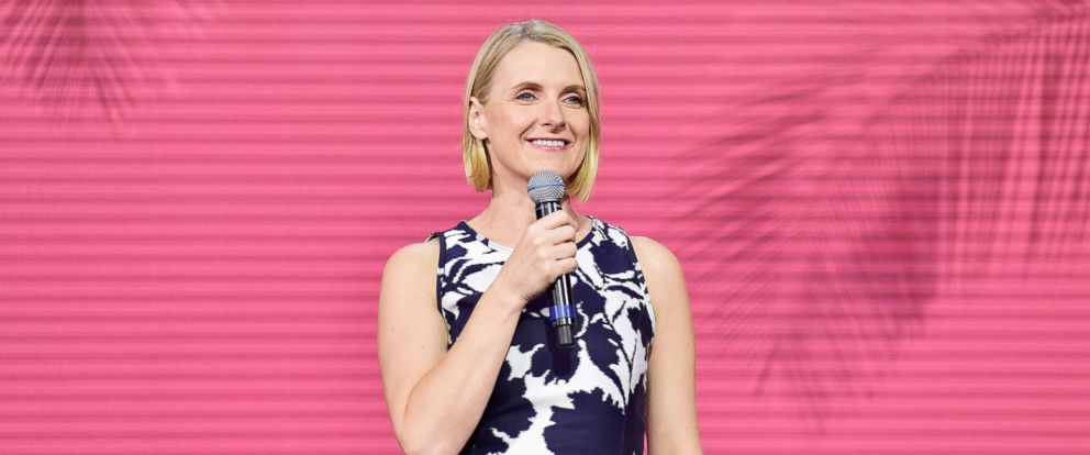 PHOTO: Author Elizabeth Gilbert speaks onstage during Creative Living Beyond Fear: Traveling with Curiosity at The Orpheum Theatre during Airbnb Open LA - Day 2, on Nov. 18, 2016, in Los Angeles.