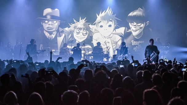 "PHOTO: Gorillaz perform their new album ""Humanz"" live on March 24, 2017 in London, United Kingdom."