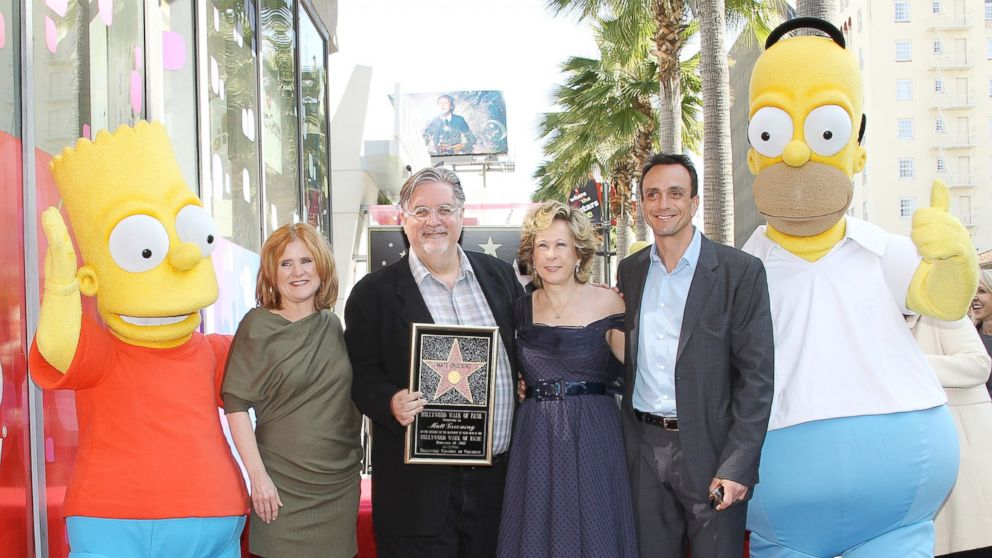 PHOTO: Nancy Cartwright, Matt Groening, Yeardley Smith and Hank Azaria attend the ceremony honoring Matt Groening with a Star on The Hollywood Walk of Fame, on Feb. 14, 2012, in Hollywood, Calif.