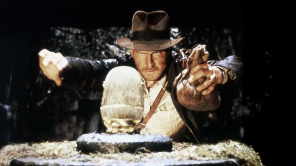 PHOTO: Harrison Ford as Indiana Jones on the set of