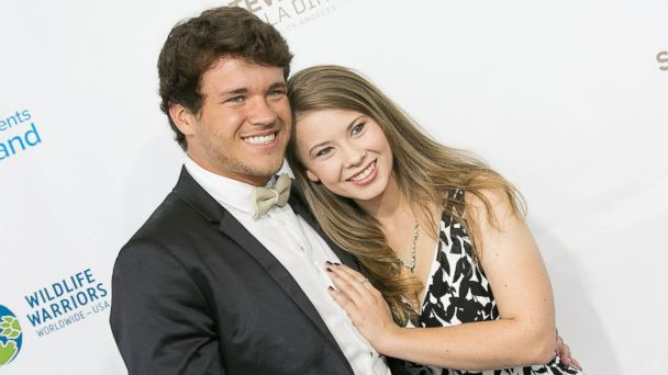 PHOTO: Chandler Powell and Bindi Irwin arrive for the Steve Irwin Gala Dinner at JW Marriott Los Angeles at L.A. LIVE on May 21, 2016 in Los Angeles, California.