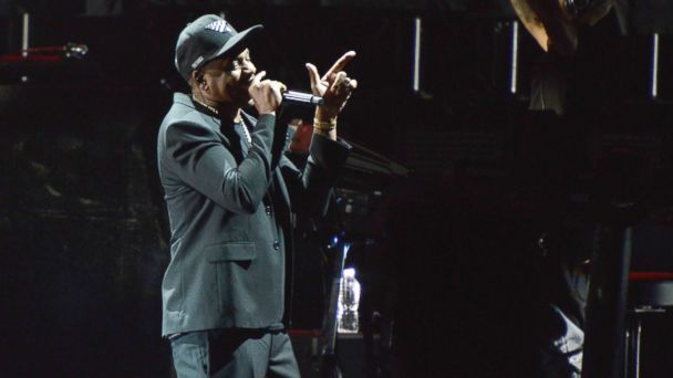 PHOTO: Jay Z performs on stage during a