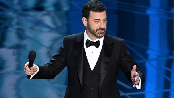 PHOTO: Host Jimmy Kimmel speaks onstage during the 89th Annual Academy Awards at Hollywood & Highland Center, Feb. 26, 2017 in Hollywood, Calif.